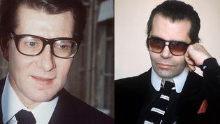 Yves Saint Laurent (en 1984 et Karl Lagerfeld (en 1979)  (AFP)