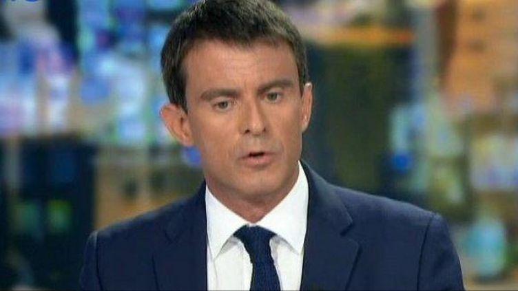 Manuel Valls sur le plateau du journal de 20 heures de France 2 mardi 26 août 2014 ( FRANCE 2 / FRANCETV INFO)
