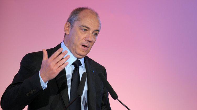 Stéphane Richard, PDG de France Télécom, présente les résultats de son groupe, à Paris, le 20 février 2013. (ERIC PIERMONT / AFP)