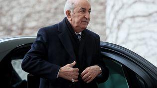 Le président algéren,Abdelmadjid Tebboune, le 19 janvier 2020 à Berlin en Allemagne. (HAYOUNG JEON / EPA)