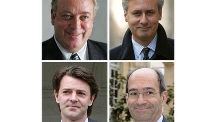 De gauche à droite, Marc-Philippe Daubresse, Georges Tron, Francois Baroin et Eric Woerth (AFP)