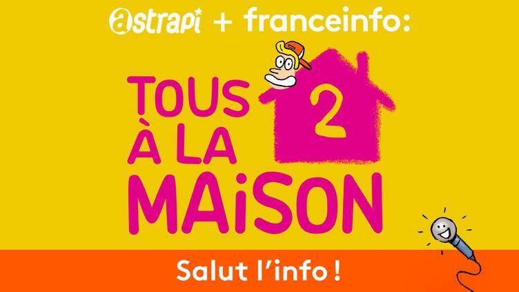 """Deuxième épisode de notre émission spéciale """"Tous à la maison"""" du podcast Salut l'info !, à retrouver du lundi au vendredi sur la radio franceinfo à 15h21, 19h51 et 22h51. (ASTRAPI / BAYARD PRESSE)"""
