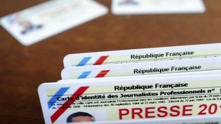 illustration carte de presse delivree par la commission de la carte d'identite des journalistes professionnels/Credit:LODI FRANCK/SIPA/1602091757 (LODI FRANCK / SIPA)