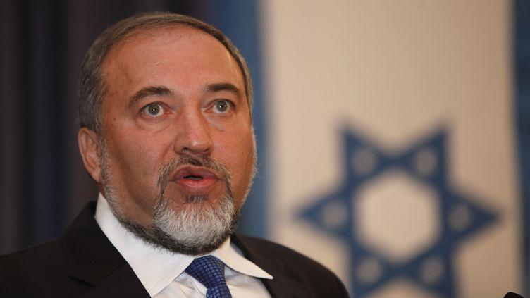 Avigdor Lieberman, leader du parti ultranationaliste Israël Beiteinou, à Jérusalem (Israël), le 13 septembre 2012. (GALI TIBBON / AFP)