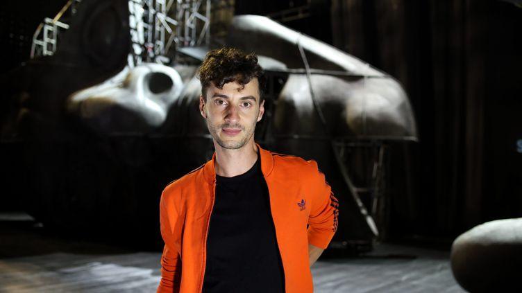 Thomas Jolly, metteur en scène présente Thyeste deau théâtre de l'Archipel en septembre 2018. (NICOLAS PARENT / MAXPPP)