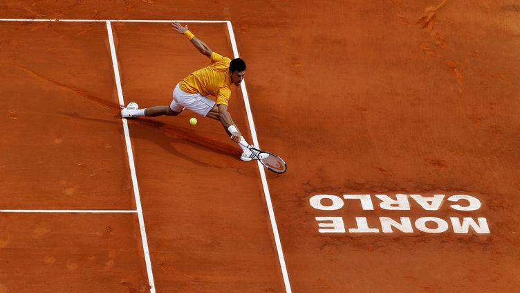 Novak Djokovic prends ses aises à Monte-Carlo (JEAN CHRISTOPHE MAGNENET / AFP)