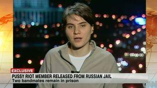 Yekaterina Samutsevitch, l'une des membres du groupe Pussy Riot affirme sur la chaîne américaine qu'elle continuera le combat  (CNN)