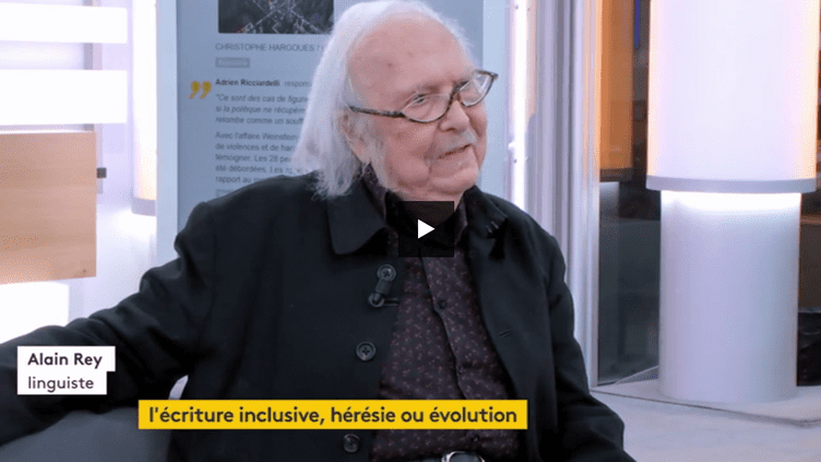 Alain rey, linguiste (FRANCEINFO)