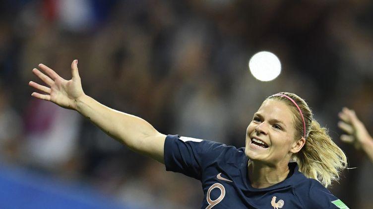 La meilleure buteuse de l'équipe de France, Eugénie Le Sommer (CHRISTOPHE SIMON / AFP)
