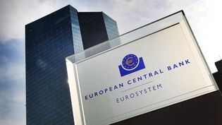 Le site de la Banque centrale européenne à Francfort (Allemagne). Photo d'illustration. (DANIEL ROLAND / AFP)