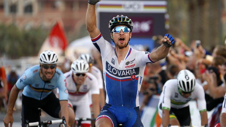 Peter Sagan conserve son tire de champion du Monde (YORICK JANSENS / BELGA MAG)