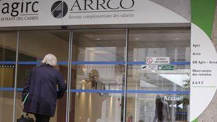 Au siège des organismes de retraites complémentaires Agirc et Arrco, le 16 octobre 2012, à Paris. (KENZO TRIBOUILLARD / AFP)