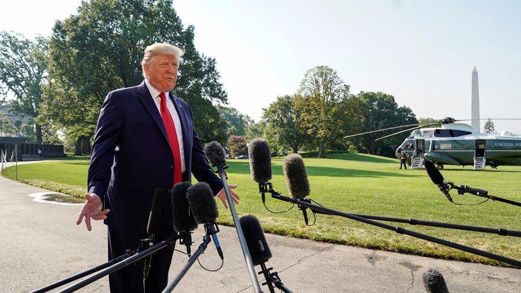 Donald Trump à Washington, le 7 août 2019. (KEVIN LAMARQUE / REUTERS)