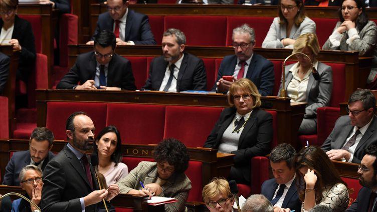 Le Premier ministre Edouard Philippe lors des Questions au gouvernement, le 30 janvier 2019. (ALAIN JOCARD / AFP)