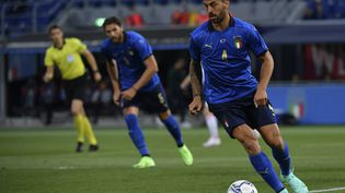 Leonardo Spinazzola lors d'un match amical entre l'Italie et la République tchèque au stade Renato Dall'Ara à Bologne, en Italie, le 04 juin 2021. (ISABELLA BONOTTO / ANADOLU AGENCY)