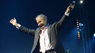 Pierre Perret à l'Olympia pour ses 80 ans (9 juillet 2014)  (Bertrand Guay / AFP)