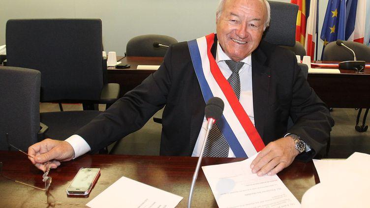 Ledéputé UMP des Alpes-Maritimes et ancien maire de Cannes, Bernard Brochand, le 4 avril 2014. (  MAXPPP)