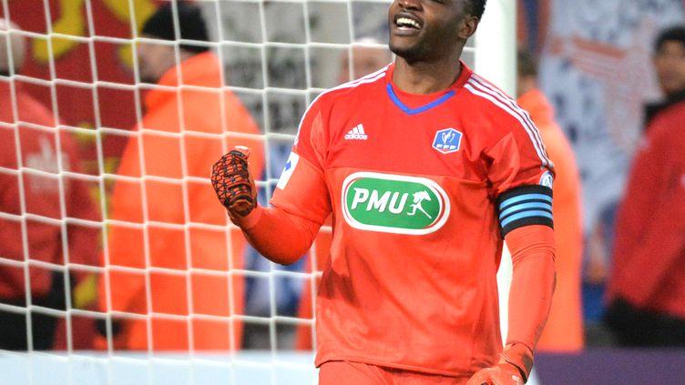 Steve Mandanda, l'homme du match face à Caen (JEAN-FRANCOIS MONIER / AFP)