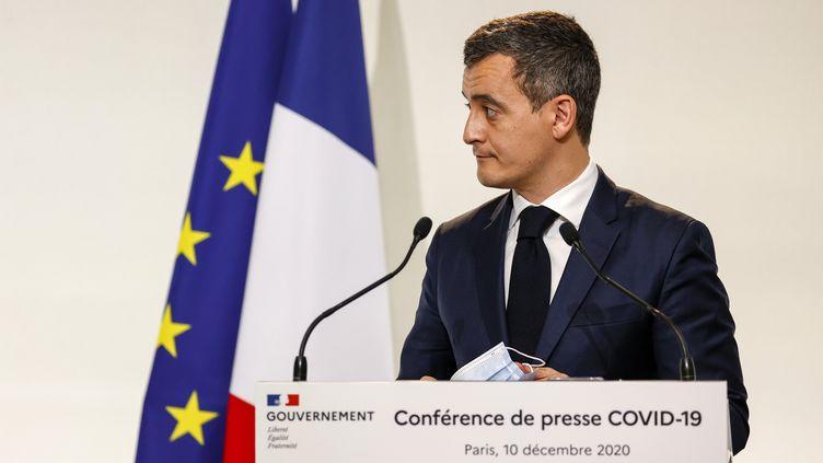 Le ministre de l'Intérieur GéraldDarmanin, le 10 décembre 2020, à Paris. (THOMAS SAMSON / AFP)