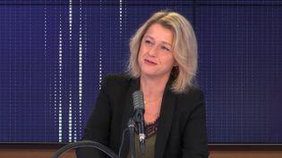 """Barbara Pompili, ministre de la Transition écologique, était l'invitée du """"8h30 franceinfo"""", jeudi 8 octobre 2020.  (FRANCEINFO / RADIO FRANCE)"""
