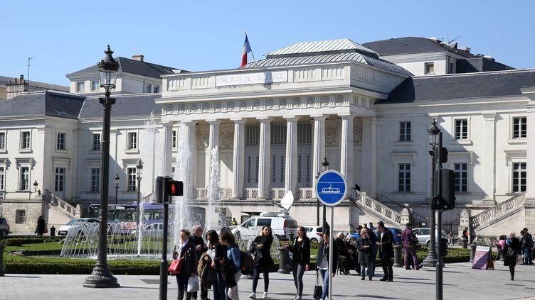 Le palais de justice de Tours (Indre-et-Loire), le 7 avril 2015. (MAXPPP)