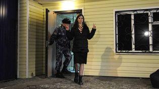 Nadezhda Tolokonnikova quitte l'hôpital pénitentiaire de Krasnoïarsk, en Sibérie Orientale  (ALEXANDER PANIOTOV / RIA NOVOSTI)