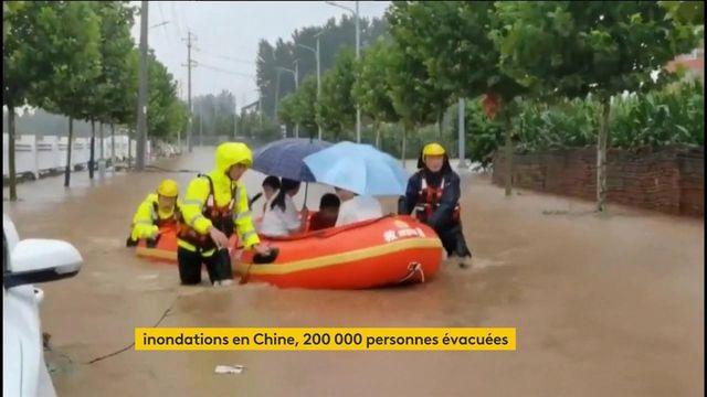 Une partie de la Chine sous les eaux