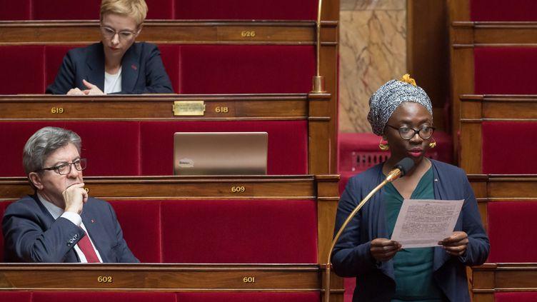 La députée de La France insoumise, Danièle Obono, à l'Assemblée nationale, le 24 mars 2020. (AFP)