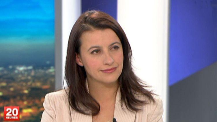 Cécile Duflot, secrétaire nationale d'EELV, le 16 novembre 2011, au JT de 20 Heures de France 2. (France 2)
