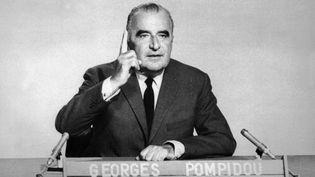 Georges Pompidou à l'ORTF en 1969. (AFP)