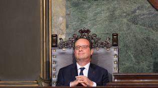 Le président François Hollande lors de son discours à l'université de La Havane (Cuba), lundi 11 mai. (YAMIL LAGE / AFP)