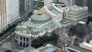 Vue aérienne du Théâtre municipal de Rio de Janeiro (29 juillet 2016) (SEBASTIAN KAHNERT / DPA / SIPA)