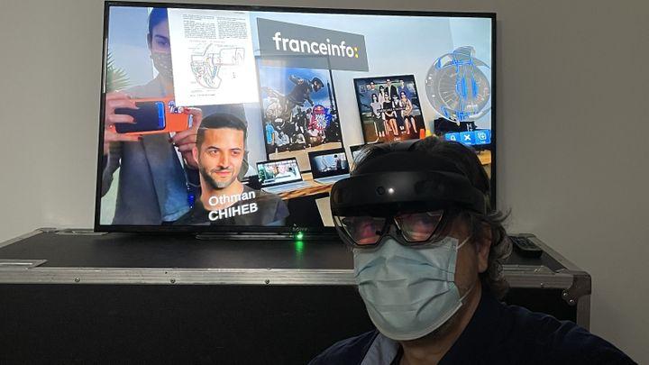 Démonstration du casque Hololens de réalité mixte (JC/RF)