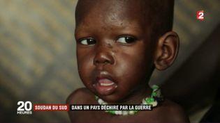 Capture d'écran d'un reportage au Soudan du Sud diffusé le 22 mai 2017 sur France 2. (FRANCE 2)
