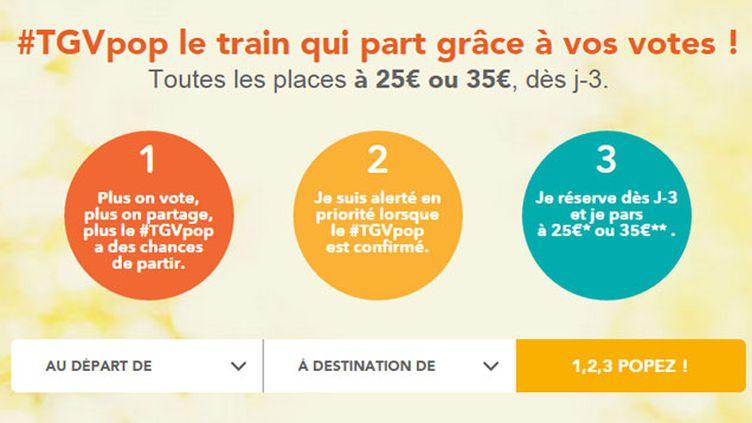 """(""""#TGVpop"""", le bon plan de l'été de la SNCF © SNCF)"""