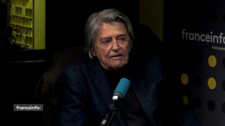 Le réalisateur Jean-Pierre Mocky, invité de franceinfo le 1er octobre 2018. (FRANCEINFO / RADIOFRANCE)