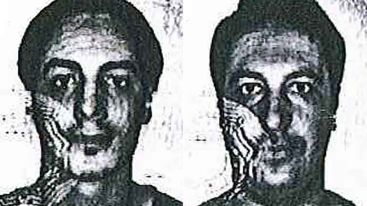 Deux photos descoordinateurs présumés des attentats du 13 novembre,diffusées le 4 décembre 2015 par la police belge. (POLICE BELGE / AFP)