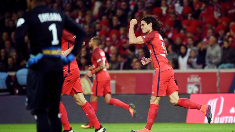 Edinson Cavani, déjà auteur de 4 buts en 3 matchs de Ligue des champions. (FRANCOIS LO PRESTI / AFP)