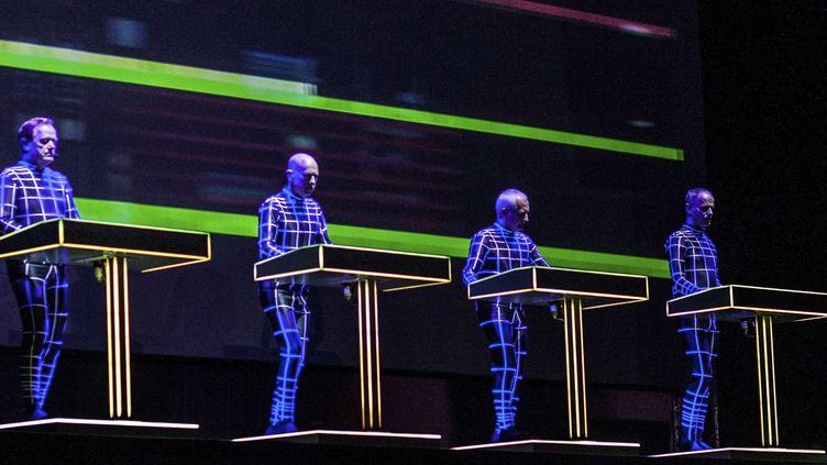 Le groupe Kraftwerk en juillet 2014, en Slovaquie  (Acelova Katarina/AP/SIPA)