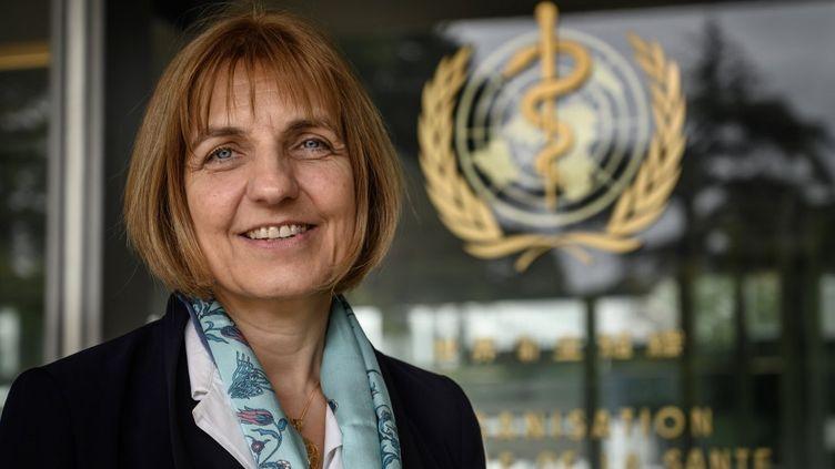 Sylvie Briand, à Genève, le 12 mai 2020. (FABRICE COFFRINI / AFP)