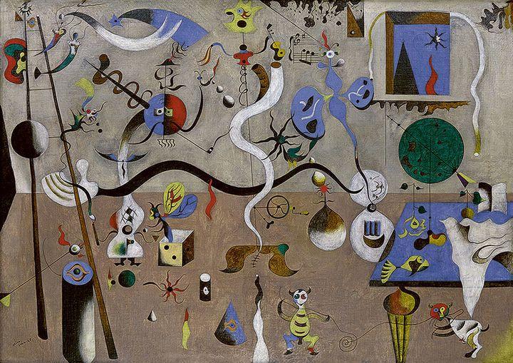 "Joan Miró, ""Le carnaval d'Arlequin"", 1924-1925, Etats-Unis, Buffalo, Collection Albright-Knox Art Gallery, Room of Contemporary Art Fund, 1940  (Successió Miró / Adagp, Paris 2018 Photo Albrigth-Knox Art Gallery, Buffalo / Brenda Bieger and Tom Loonan)"