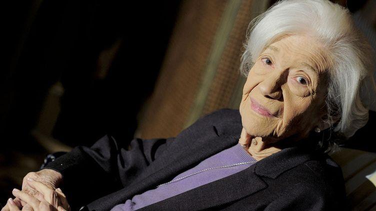 L'auteure espagnole Ana Maria Matute en novembre 2010, au moment où elle recevait le Prix Cervantes  (Josep Lago / AFP)