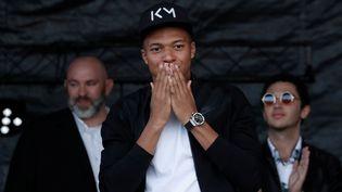 Kylian Mbappé, mercredi 17 octobre 2018 au stade Léo-Lagrange de Bondy (Seine-Saint-Denis). (BENOIT TESSIER / REUTERS)