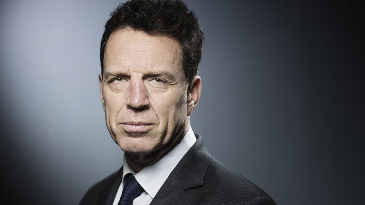 Geoffroy Roux de Bézieux, à Paris, le 4 avril 2018. (JOEL SAGET / AFP)