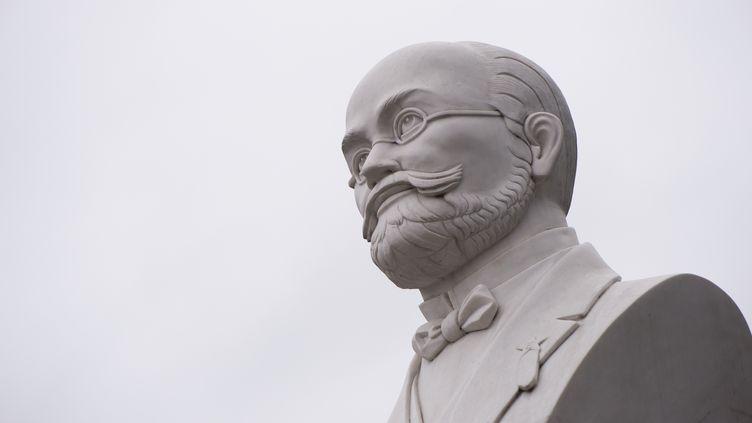 Le buste deLudwik Zamenhof, créateur de l'espéranto, le 7 avril 2017 à Herzberg, en Allemagne. (dpa Picture-Alliance/AFP)