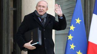 Le ministre de l'Intérieur Gérard Collomb, à l'Elysée, à Paris, le 24 janvier 2018. (LUDOVIC MARIN / AFP)
