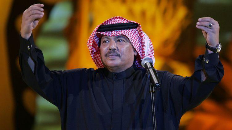 Abou Bakr Salem, lors d'un concert à Doha le 12 janvier 2006  (KARIM JAAFAR / AFP)