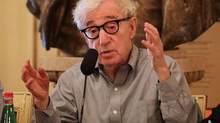 """Woody Allen le 2 juillet 2019 à Milan, lors de la conférence de presse de présentation de l'opéra """"Gianni Schicchi"""" de Puccini dont il signe la mise en scène à la Scala (MATTEO BAZZI / ANSA / MaxPPP)"""