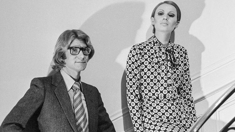 Le couturier Yves Saint Laurent en 1967  ( Georges Hernad-Ina)