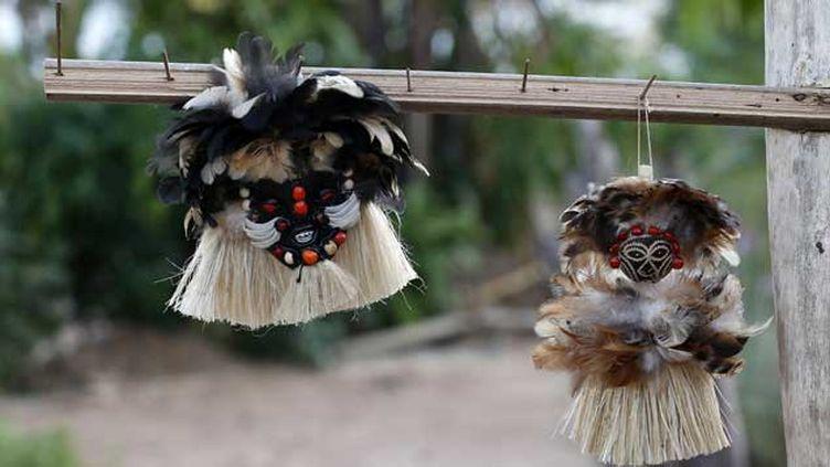 (De l'artisanat d'une autre tribu amazonienne, la tribu Tatuyo, qui accueille régulièrement des touristes dans son village © Reuters)